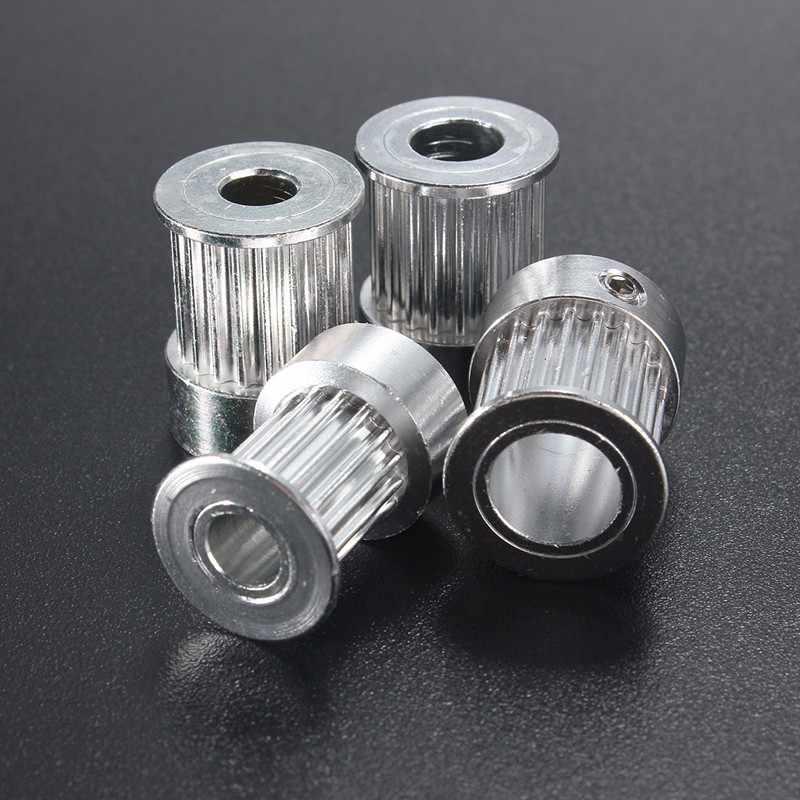 GT2 16 שיניים 20 שיניים נשא 5mm/6.35mm/8mm עיתוי Alumium גלגלת Fit עבור GT2 10mm חגורת תזמון פתוח עבור 3D מדפסת