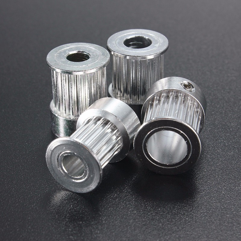 GT2 16 Teeth 20Teeth Bore 5mm/6.35mm/8mm Timing Alumium Pulley Fit For GT2 10mm Open Timing Belt For 3D Printer