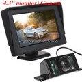 "HD 4.3""  TFT  Rear View Monitor  AV Input CCTV Monitor With Camera"