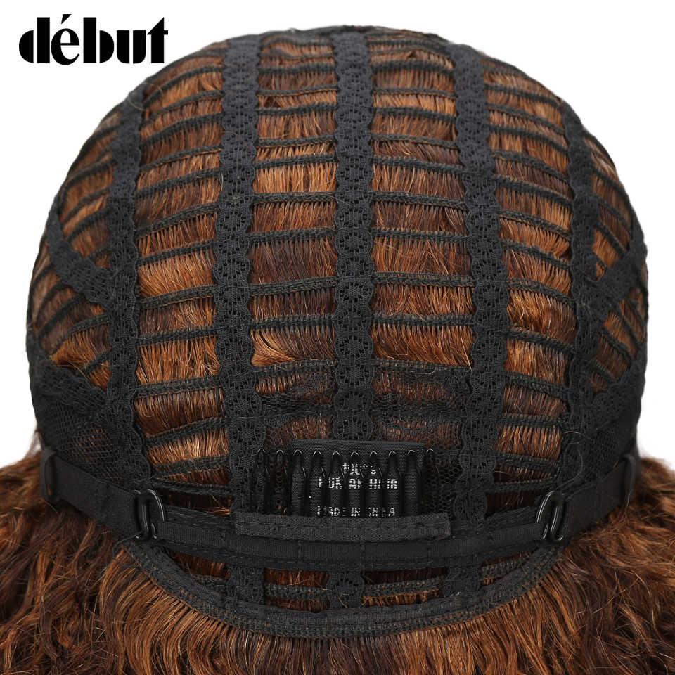 Debiut koronki przodu włosów ludzkich peruk peruka z kręconych włosów typu Kinky ludzkich włosów peruki z krótkim bobem dla czarnych kobiet mokre i faliste peruki z kręconymi włosami darmowa wysyłka
