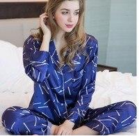 Шелковая пижама из двух частей с длинным рукавом женская с длинными рукавами 100% шелк тутового шелкопряда большой размер любителей шелка. До