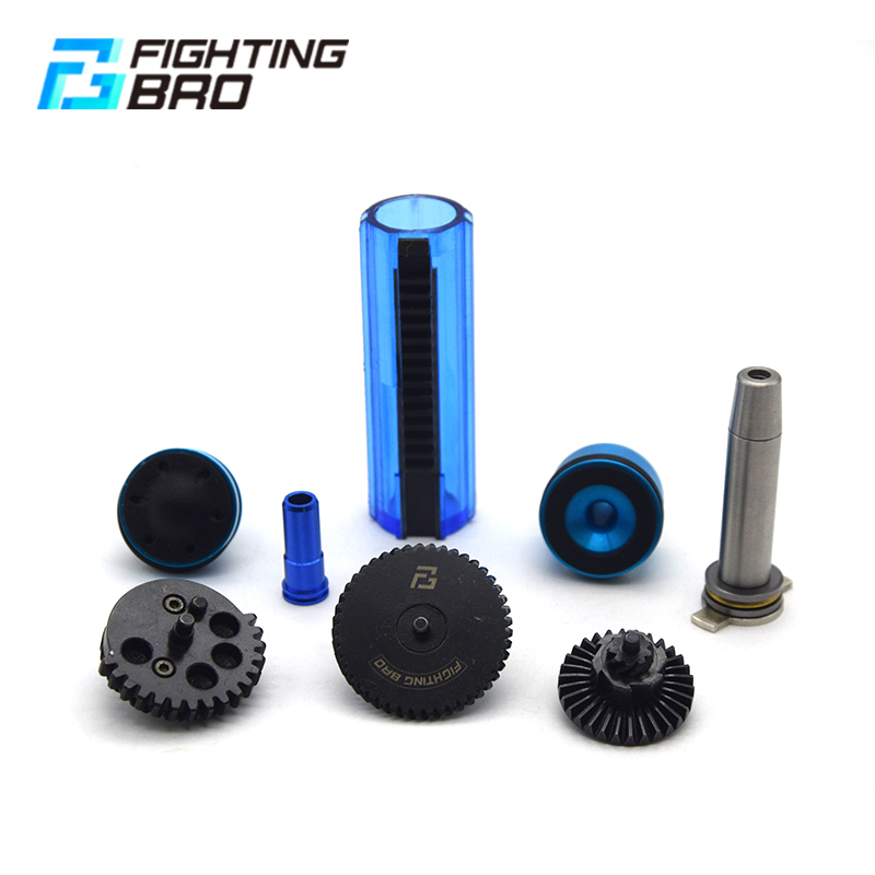 AK Ver.3 AEG Airsoft accessories Super Silent Gear Piston head Spring guide Nozzle Cylinder 13:1 16:1 18:1 200:100 300:100 CNC-in Paintball Accessories from Sports & Entertainment