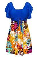 Women S Cut Slim Swim Swimsuit One Piece Leaf Printing Wrapped Chest Beach Swimwear Brilliant