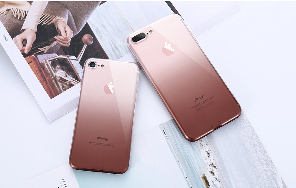 FLOVEME Gradient Phone Case For iPhone 7 6 6S Plus 5 5S SE Luxury Silicon Soft TPU Thin Back Cover For iPhone 5 6S 7 Plus Cases (12)