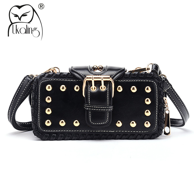 UKQLING Brand Crossbody Bags for Women Bag Lady Clutch Purse Handbag Rivet Rock Style Messenger Shoulder Handbags Sac a Main jooz brand luxury belts solid pu leather women handbag 3 pcs composite bags set female shoulder crossbody bag lady purse clutch