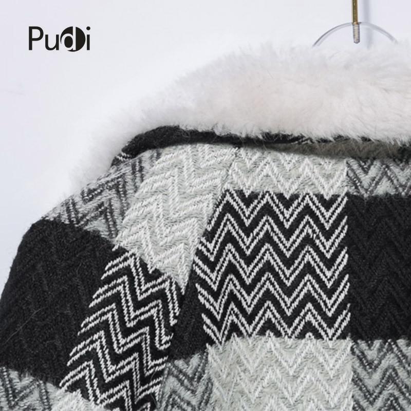 Nouvelles Pudi Fourrure Ct816 Femmes Moutons Veste Manteau Réel Fille Plaid Mode De Loisirs Sur 2018 aaEqBfwxr