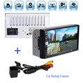 """Posterior del coche cámara de Reserva + 2 DIN Bluetooth Audio 7 """"HD de pantalla Táctil de Radio En El Tablero Estéreo apoyo MP5 MP3 Player USB TF AUX"""