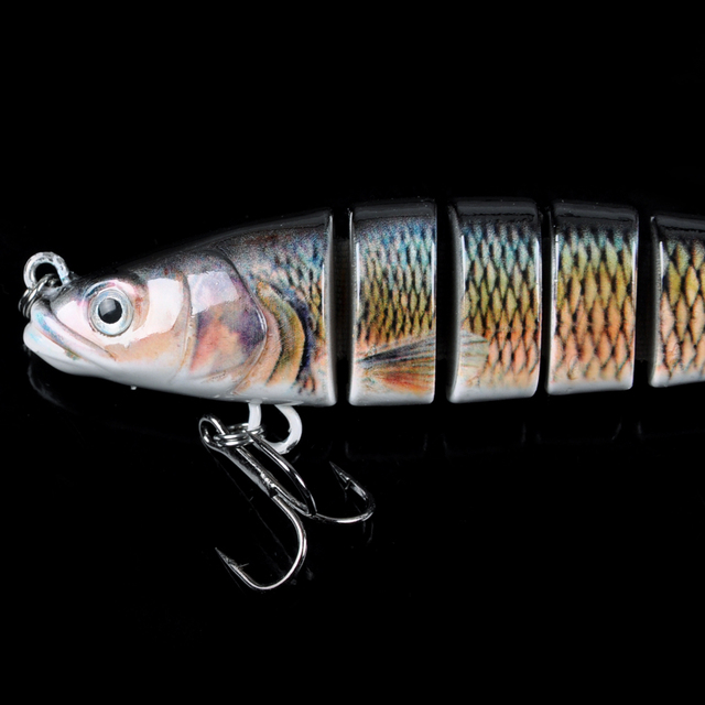 Hard Fishing Lure 14CM 27g Multi Jointed 3D Eyes Lure 8-Segment