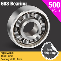500pcs 608 Slalom Sole Skate Shoes Scooter Bearing For Ceramic Led Light Aluminium Batman Hand Spinner