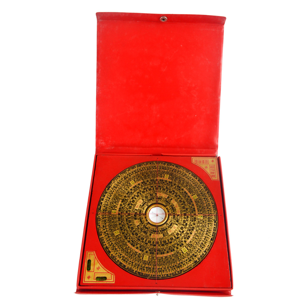 Feng Shui Luo Pan Vintage Chinese Compass J2333