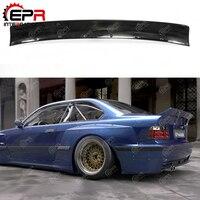 For BMW E36 RB Body Kit Tuning FRP Glass Fiber Rocket Bunny Rear Spoiler Full Wide Body Kit Part For E36 Fiberglass Wing
