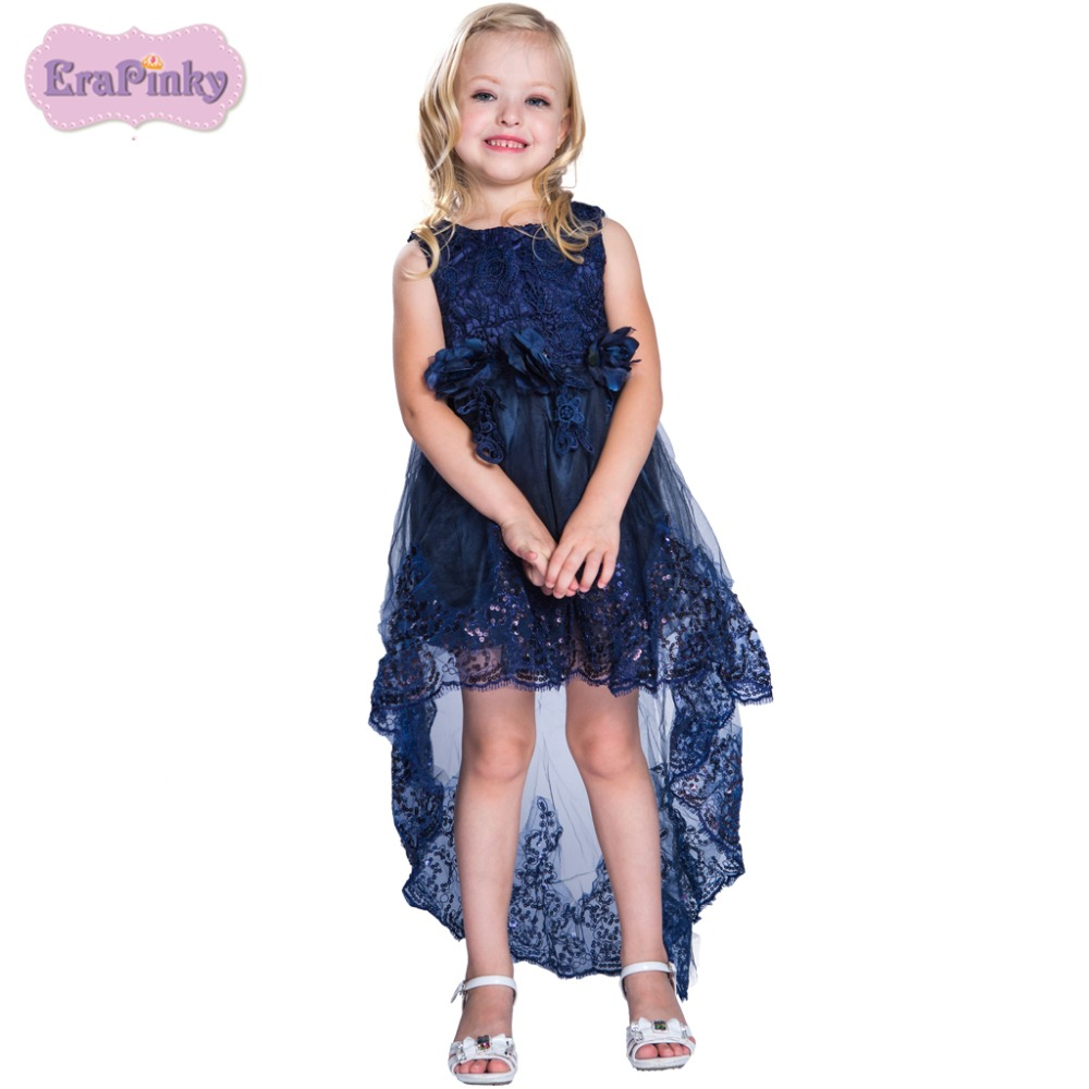 Erapinky Girls Dress vestido infantil Lace Flower Ball Gown Girl Dress For Party Wedding Princess Dress Kids Clothes Summer 2018 girl dress 2 7y baby girl clothes summer cotton flower tutu princess kids dresses for girls vestido infantil kid clothes