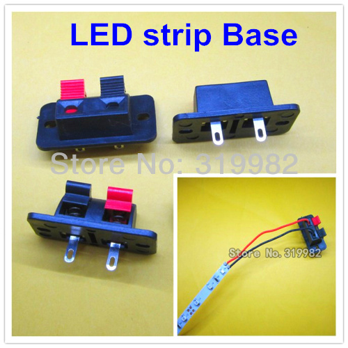 100pcs lot 2 bit speaker caudio clamp led wire clip holder diy electronic spring cable connect. Black Bedroom Furniture Sets. Home Design Ideas