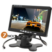 Sale 5PCS HD 800 x 480 7 Inch 5W Color LCD Screen Car Rear View Monitor with HDMI + VGA Interface