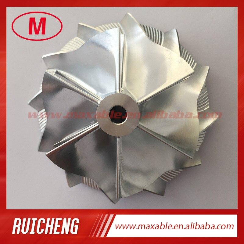 GT15-25 702549-0008HF V1 50,20/65,00 мм 6 + 6 лезвий высокопроизводительная турбо заготовка/Фрезерование/алюминиевый 2618 компрессорный круг