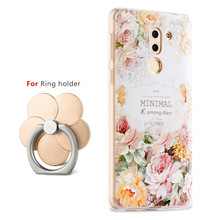 High Quality 3D Relief Print Soft TPU Back Cover Case For Huawei Honor 6X Phone Bag Luxury Coque Fundas For Honor 6X