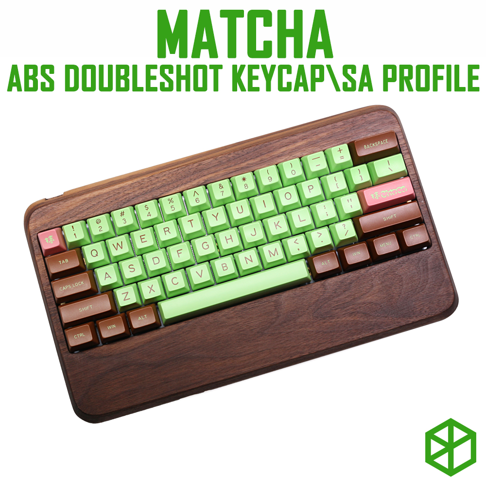 maxkey abs doubleshot keycap sa profile matcha for mechanical keyboards gh60 poker 87 tkl 104 108 ansi iso 96 84 980
