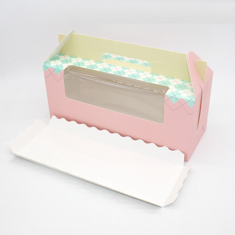 30 pcs cupcake <font><b>box</b></font> <font><b>with</b></font> window <font><b>handle</b></font> Roll Cake <font><b>Kraft</b></font> <font><b>Paper</b></font> Gift Packaging <font><b>box</b></font> wedding kids Birthday home Party supplier image
