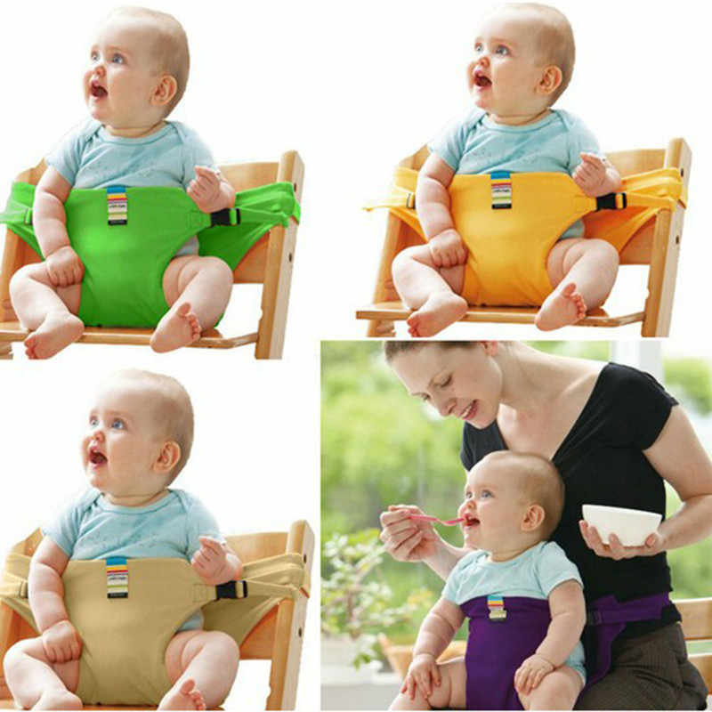 Baby Booster seats stretch wrap Foldable Portable Travel Product Safety Belt Infant Dining Lunch Mon Handfree Feeding High Chair