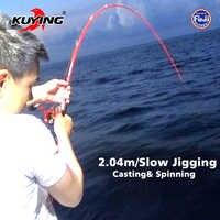 KUYING VITAMINA MARE 2.04m 6'8 1.5 Sezioni Casting Spinning In Carbonio Lure di Pesca Lento Jigging Rod Stick Jig Canna max 180g di Richiamo