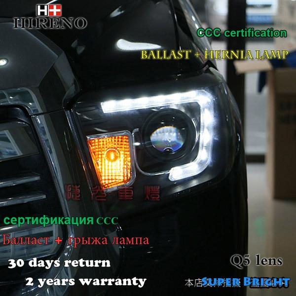 Hireno Headlamp for 2014-2015 Toyota Tundra Headlight Assembly LED DRL Angel Lens Double Beam HID Xenon 2pcs hireno headlamp for mercedes benz w163 ml320 ml280 ml350 ml430 headlight assembly led drl angel lens double beam hid xenon 2pcs