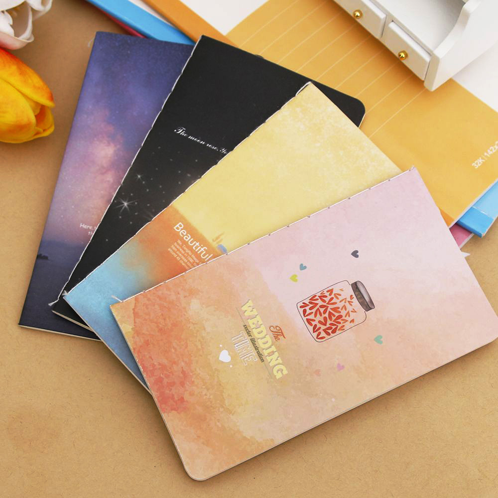 Mini Cute Novelty Sea Star Bottle  Universe Notebook Notepad Diary Writting Paper Memorandum School Supplies
