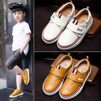 Children genuine leather shoes boys sneakers 2018 new autumn kids air cushion casual shoes student toddlers size 26 to 39