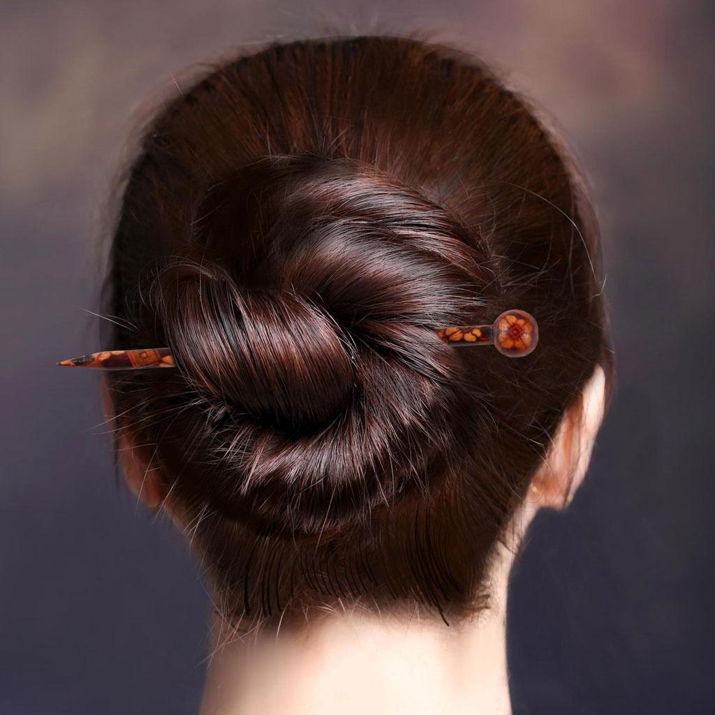 Retro Carved Metal Handmade Hair Sticks Picks Chignon Pin Hairpin Accessory