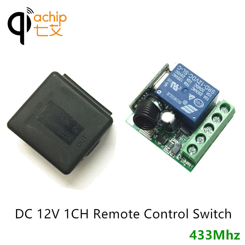 433mhz dc 12v 1ch remote control switch relay receiver module car433mhz dc 12v 1ch remote control switch relay receiver module car led light controller time delay 5s 15s 20s easy refit diy in remote controls from