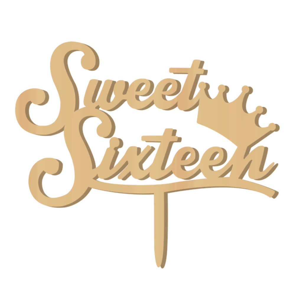 עץ Sweet Sixteen עוגת טופר עוגת קישוטי עבור 16th יום הולדת ספקי צד