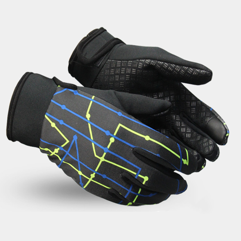 Cycling Gloves Winter Bicycle Gloves Warm and Touch Screen Windproof Bicycle Full Finger Mens Outdoor Sports Snowboard Gloves