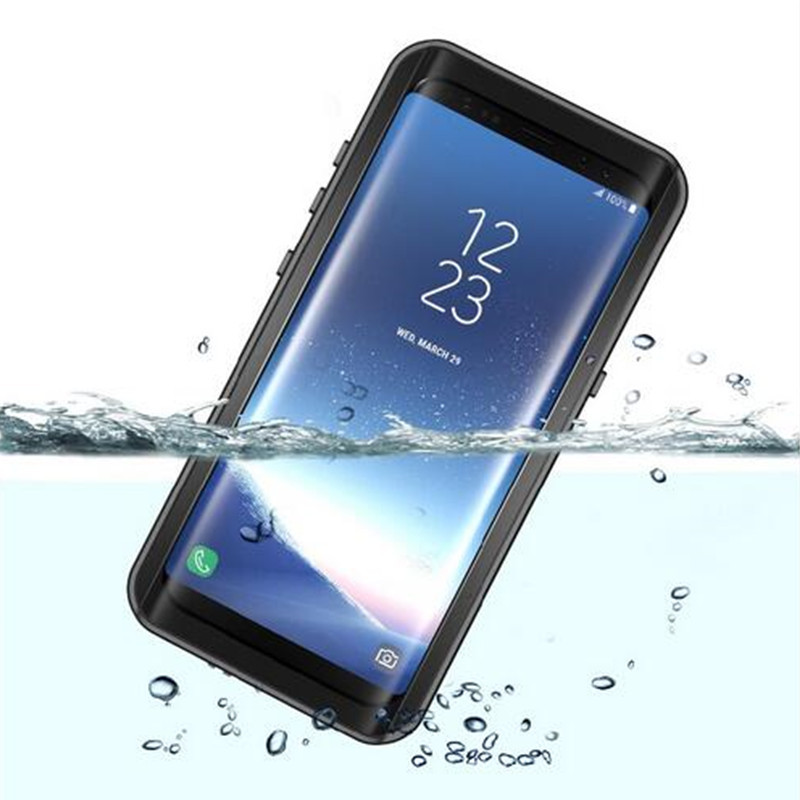 100% Waterproof Case for Samsung S8 plus Outdoor Summer Swimming Cases for Galaxy S8 Shockproof Snowproof Cover with Fingerprint