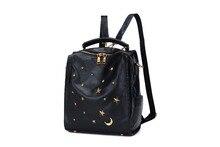 Мягкий Топ Натуральная кожа заклепки звезды старинные рюкзак женская дизайнерская марка Путешествия школьная сумка для девочки-подростка Mochila Feminina