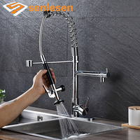 Wholesale And Retail Kitchen Faucet Pull Down Spray Chrome Finish Sliver Sink Faucets Mixing Valve Mixer