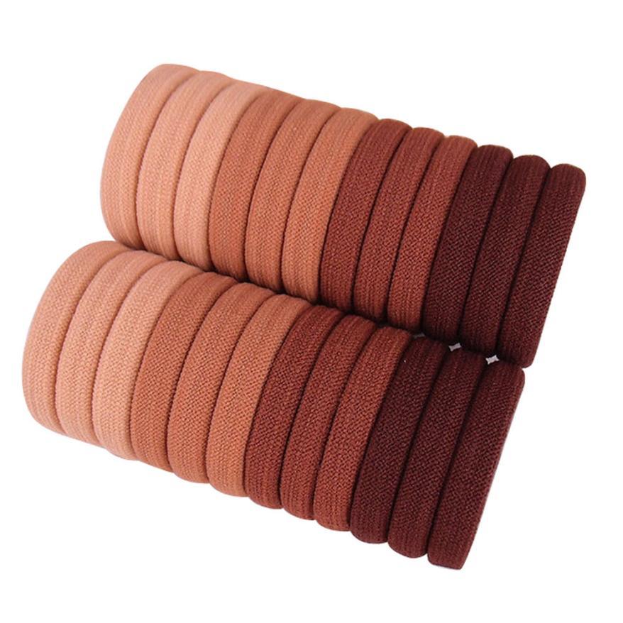 10pcs couleurs noires corde élastiques cravates cheveux 4mm épais bandeaux  ~PL