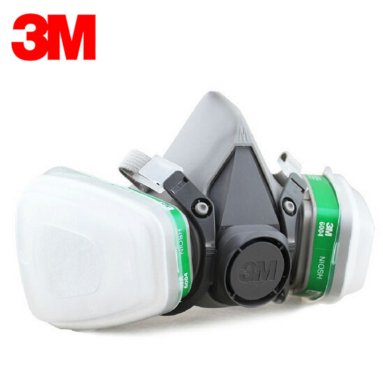 3M 6100 Half Face Mask with 6004 Cartridges Ammonia Methylamine Organic Vapor Cartridge 7 pieces Suit LT007 3m 6300 6003 half facepiece reusable respirator organic mask acid face mask organic vapor acid gas respirator lt091