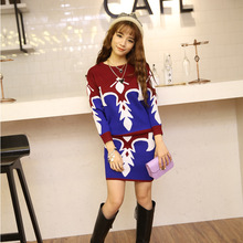 And the wind in winter women's new sweater bag hip skirt suit semi long sleeved two piece wholesale women's skirt