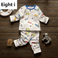 2017 New Cute Baby Clothes Sets Long Sleeve Thick Warm Winter Underwear Sets Cotton Baby Pyjamas Baby Girls Boys Clothing
