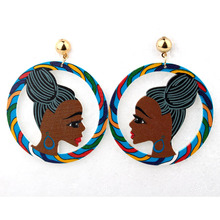 Bohemia Indian Woman Earrings Eardrop For Women Jewelry Colorful Figure Female Long Dangle  Earings