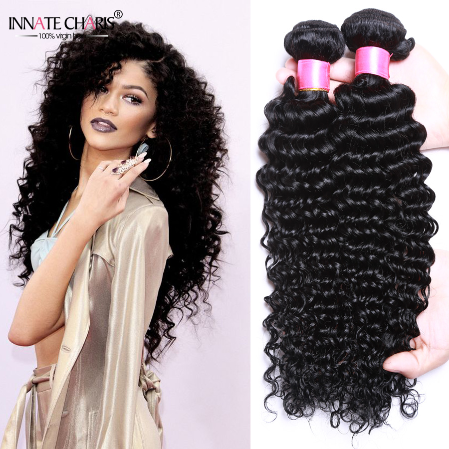 Rosa Hair Products 4 Bundles Peruvian Deep Wave Hair 7a