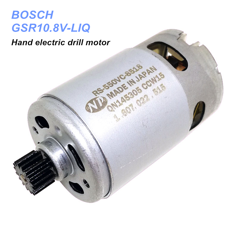 GSR10.8V-LIQ 10.8V Hand Electric Drill Motor RS550VC-8518 With 16T Gear