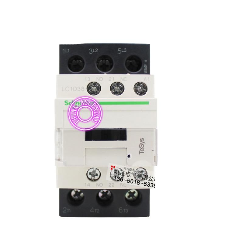 LC1D Series Contactor LC1D38 LC1D38KD 100V LC1D38LD 200V LC1D38MD 220V LC1D38ND 60V LC1D38PD 155V LC1D38QD 174V LC1D38ZD 20V DC new cad50bdc dc24v tesys d series contactor control relay 5no 0nc