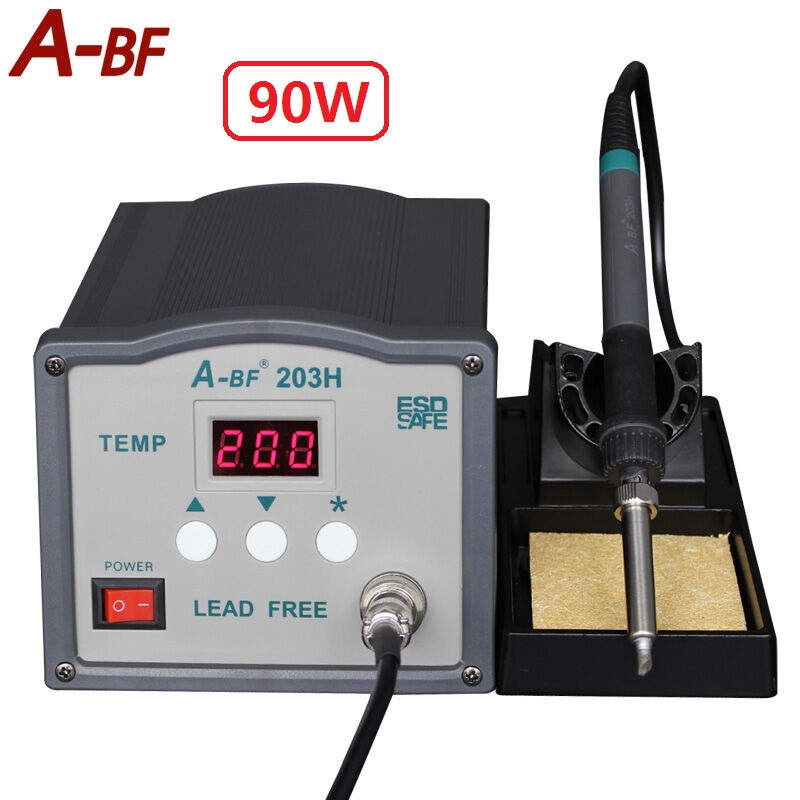 New A-BF Soldering Station 203H 90W 205H 150W High frequency Soldering Station 220V 230V Lead free solder Soldering Iron StationNew A-BF Soldering Station 203H 90W 205H 150W High frequency Soldering Station 220V 230V Lead free solder Soldering Iron Station