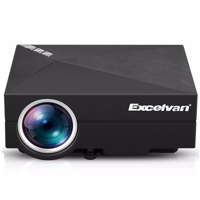 Excelvan Upgrade Version GM60A Built-in Miracast Airplay Mini LCD Projector 800 x 480 Resolution Support 1080P HD Video Beamer
