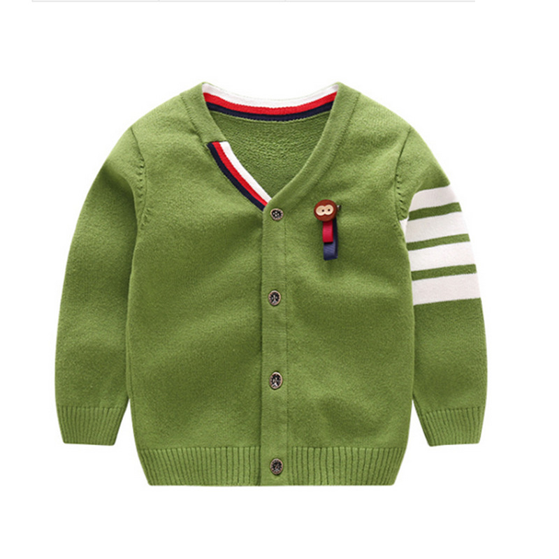 Fashion-Baby-Sweater-For-Boys-Solid-Cotton-Baby-Sweater-V-Neck-Long-Sleeve-Kids-Cardigan-With-Animal-Baby-Boys-Clothing-2