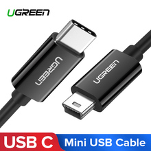 Ugreen kabel USB C do Mini USB Thunderbolt 3 Adapter Mini USB typu C do aparatu cyfrowego MacBook pro odtwarzacz MP3 kabel HDD typu c