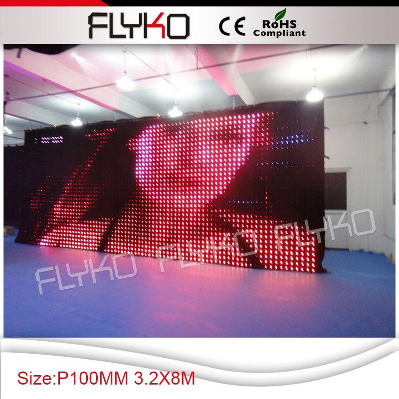 Flyko сценический эффект светодиодный экран сценический фон p100 3,2 м* 8 м PC контроллер