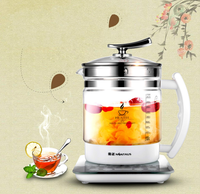 Electric Automatic Health Pot Thickening Glass 1.8L Multi - Functional Health Kettle Tea - Making Kettle 12-hour Reservation electric kettle health cup mini health pot full of glass electric hot office brew