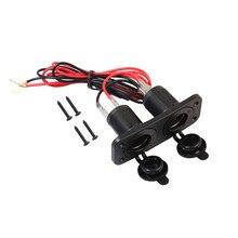 Waterproof 2x12V 10A Dual Car Cigarette Lighter Socket Power Charger Plug for Truck