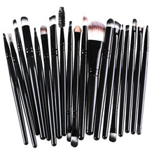 16 color Professional 20 pcs Makeup Brush Set tools Make up Toiletry Kit Wool Brand Make